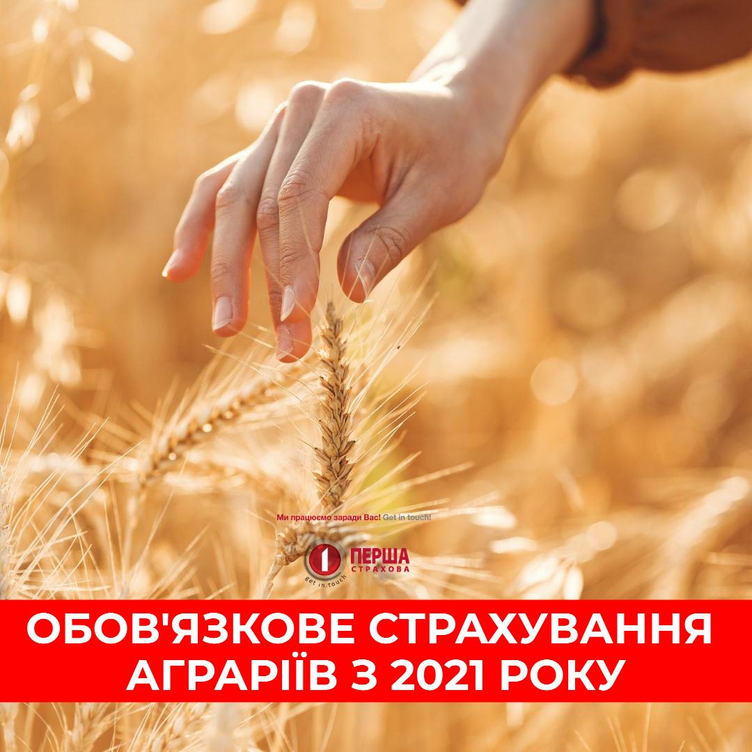 АТ «Аграрний фонд» в 2021/2022 році обов'язково вимагатиме від аграріїв застрахувати врожай.