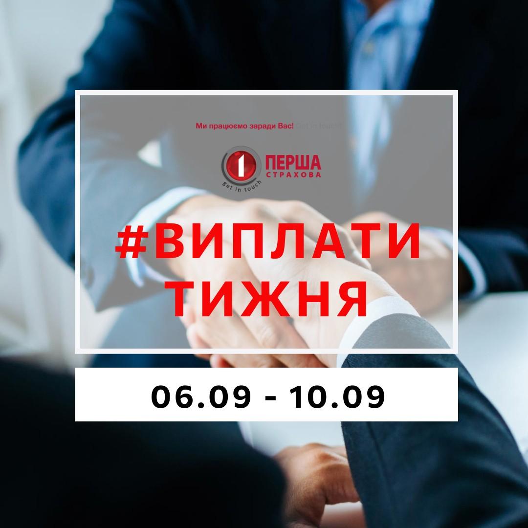 За минулий тиждень СК «Перша» виплатила майже 2,6 млн.грн. за 89 страховими подіями.